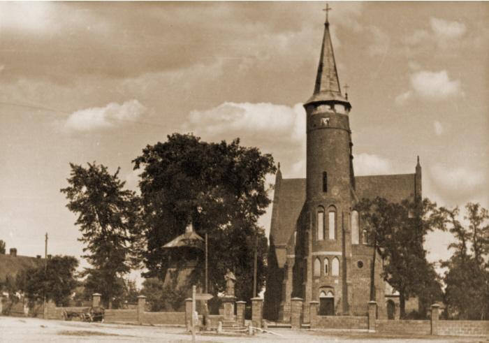Kościół Św. Łukasza w Drzewicy dawniej