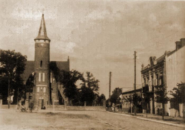 Kościół i Plac Wolności dawniej