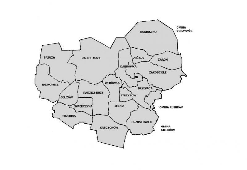 Mapa Sołectwa